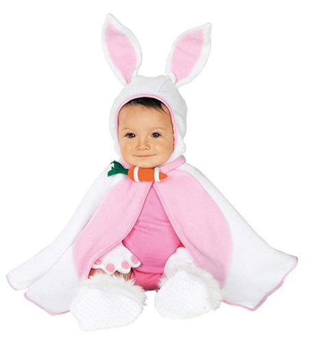 Rubie's Baby Girl's Caped Cutie Lil' Bunny Costume, Pink/White, 6-12 Months