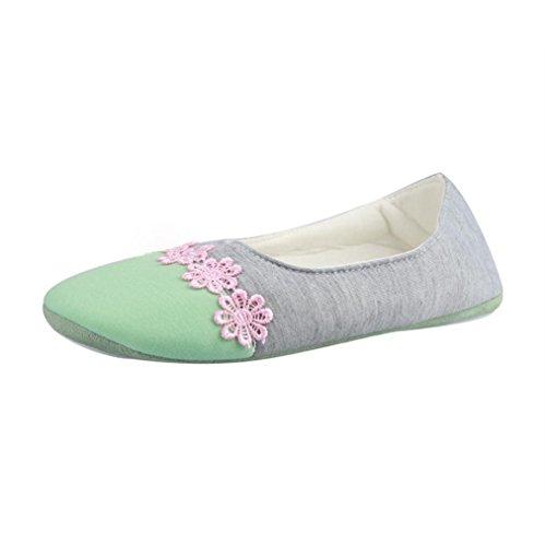 BZLine® Frauen Hausschuhe gespleißt Warm schwangere Yoga Schuhe Grün