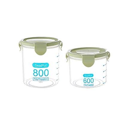 Verde Xiton Cucina Cibo Serbatoio di plastica di immagazzinaggio Fresh Box Tenuta di conservazione di alimento