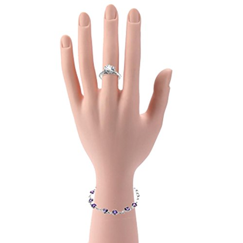 Inkach Mannequin Hand - Jewelry Organizer Display Model - Womens Finger Ring Bracelet Stand Holder (Female Hand Model)