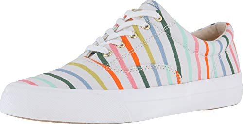 Keds Women's x Rifle Paper Co Happy Stripe Sneakers, Cream Multi, Size 7.5