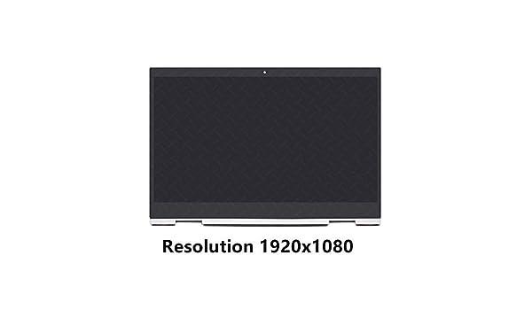 FTDLCD® 15.6 Inch FHD LED LCD Pantalla Táctil Digitalizador Asamblea con Marco Reemplazo de Ordenador para HP Envy X360 15-cn0001la 15-cn0002la 1920x1080 Color Plata: Amazon.es: Electrónica