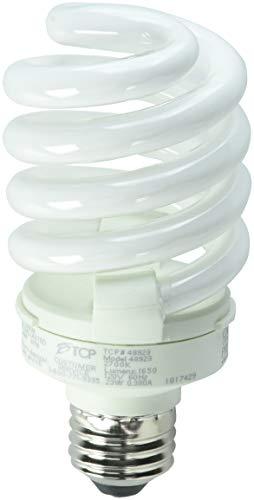 - TCP 48923 2700-Kelvin 23-watt Full Springlamp CFL Light Bulb