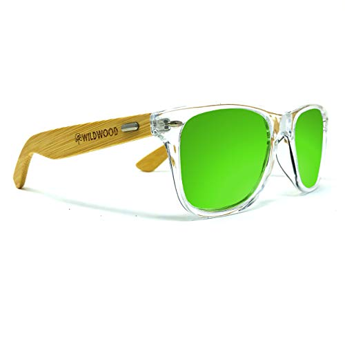 Wildwood Bamboo Wood Unisex Polarized Sunglasses for Men and Women (Green ()