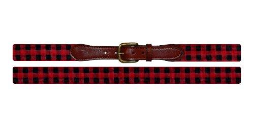 Smathers & Branson Lumberjack Plaid Needlepoint Belt, Multi - 34 (B-209-34)