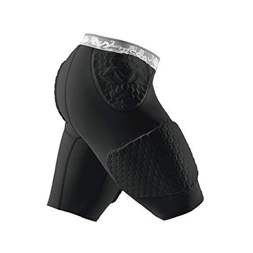 McDavid Hex Short with Contoured Wrap Around Thigh, Large, Black