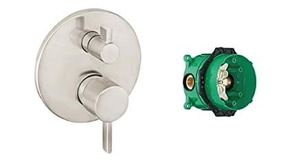 ibox hansgrohe  Hansgrohe 04447820 S Trim Pressure Balance with Diverter And iBox ...
