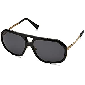 Dolce & Gabbana  Men's DG2167 Black/Polar Grey Sunglasses