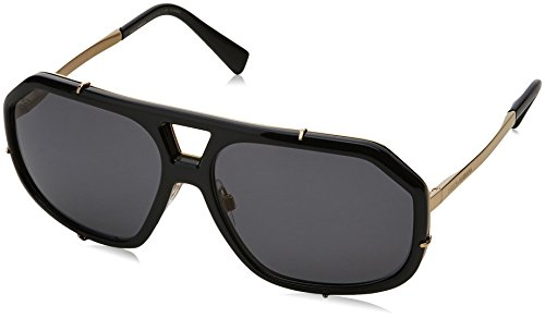 Dolce & Gabbana  Men's DG2167 Black/Polar Grey Sunglasses by Dolce & Gabbana