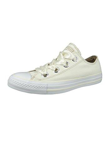 Converse WoMen Chuck Taylor CTAS Big Eyelets Ox Canvas Fitness Shoes White (Egret/Vintage Khaki/White 281)