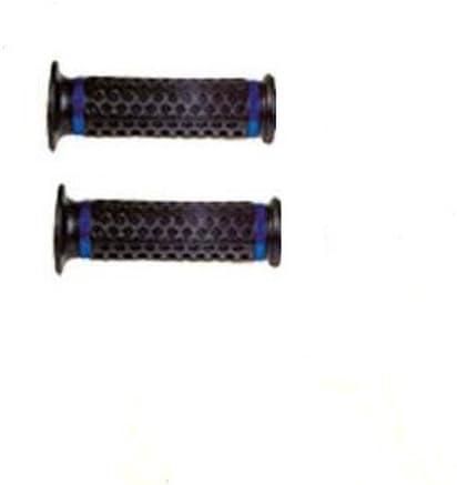 Manopole Moto Scooter Universali Manubrio Coppia Diametro 24//22 Inserto Blu