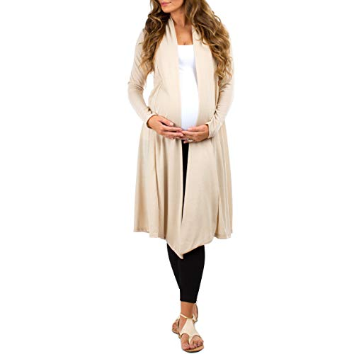 Rags and Couture Women's Long Draped Maternity and Nursing Cardigan Made in USA by Rags and Couture