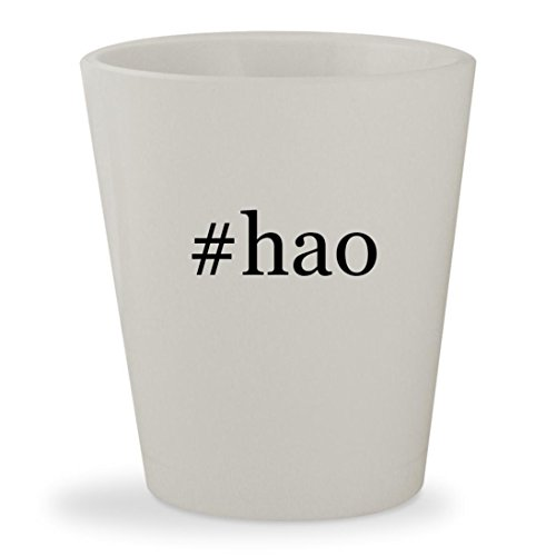 #hao - White Hashtag Ceramic 1.5oz Shot Glass