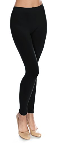 Basic Solid Full Length Footless Tights Leggings Pants (One Size (Size 2-10), LG06 (Fashion Solid Tight)