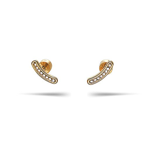 Pave Curved - Chloe + Isabel Pavé Curved Bar Stud Earrings