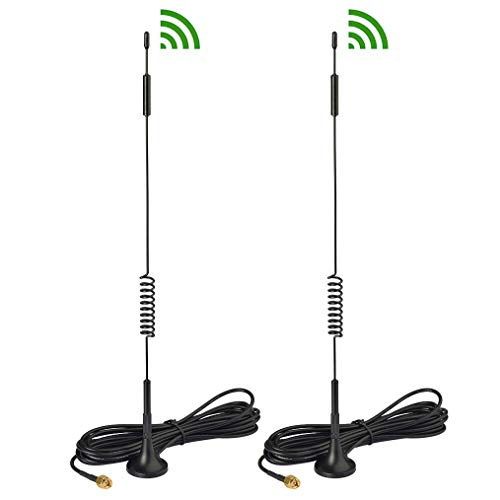Bingfu 4G LTE 7dBi Magnetic Base SMA Male Antenna (2-Pack) Compatible with Verizon AT&T T-Mobile Sprint Huawei Sierra Netgear ZTE 4G LTE Router Gateway Wildlife Trail Camera Cell Phone Signal Booster ()