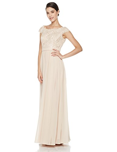 Social Graces Women's Scoopneck Sequin Lace Bodice Evening Gown