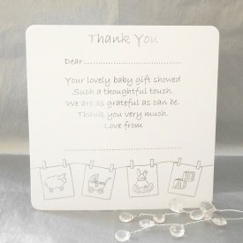 luxury pack of 10 thank you for the baby gift cards amazon co uk