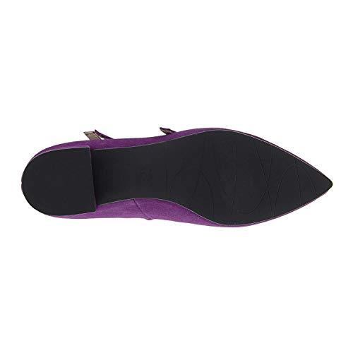 Merceditas Zapatos Piel Zapatos Morado Morado Zapatos Piel Merceditas Piel Merceditas Merceditas Zapatos Morado Piel FwddqH