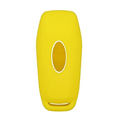 SEGADEN Silicone Cover Protector Case Skin Jacket fit for FORD 4 Button Smart Remote Key Fob CV2716 Yellow: Automotive
