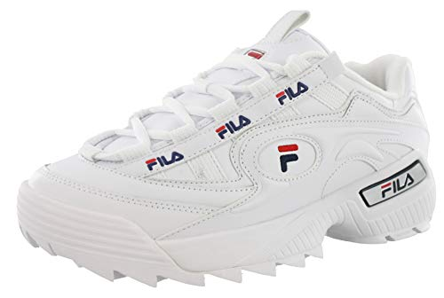 Fila Womens D Formation White Navy RED Size 11