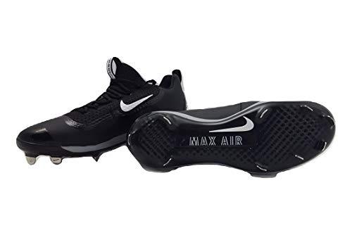 (Nike Mens Air Huarache 2KFILTH Elite Low Metal Cleats Black/White-Stealth (12))
