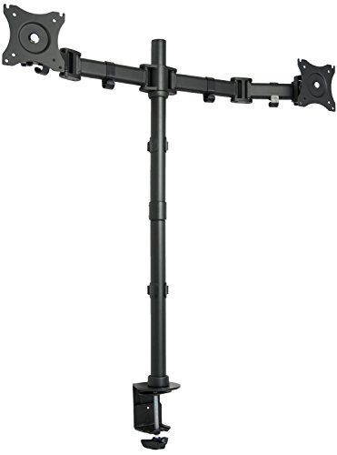 "VIVO Dual Monitor Extra Tall Standing Adjustable Desk Mount Stand / Holds 2 LCD Screens up to 27"" (STAND-V012M)"