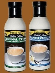 Walden Farms Coffee Creamer Original and French Vanilla (Pack of 2)
