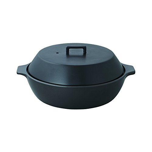 KAKOMI IH Donabe 2.5L Traditional Japanese Clay Pot - Steaming, Simmering, Stewing, Suitable for various cooking methods by Kinto