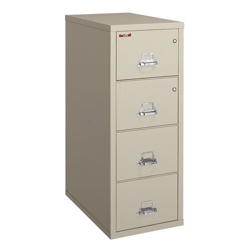 Fire King Legal Size Vertical Fireproof File with Safe