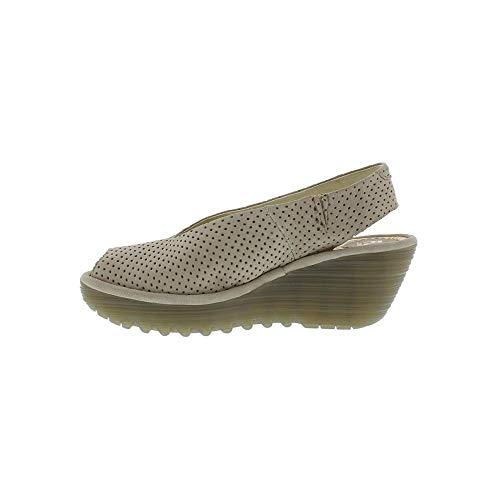 con Yazu736fly London Zapatos de Tira Brown Fly Mujer Tobillo para wtBPq6ppO