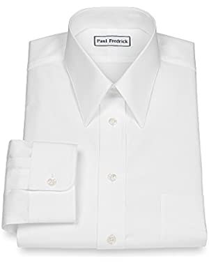 Men's 2-Ply Cotton Edge-Stitched Straight Collar Dress Shirt