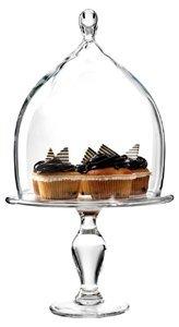 Anchor Hocking 2 Piece Tear Drop Cake Plate Set