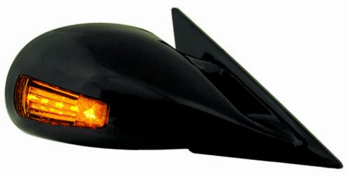 (IPCW CML-94AD Black M3 Style Manual Side Mirror with LED Turn Signal - Pair)