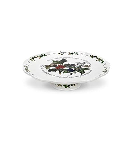 (Portmeirion Holly And Ivy Footed Cake Plate )