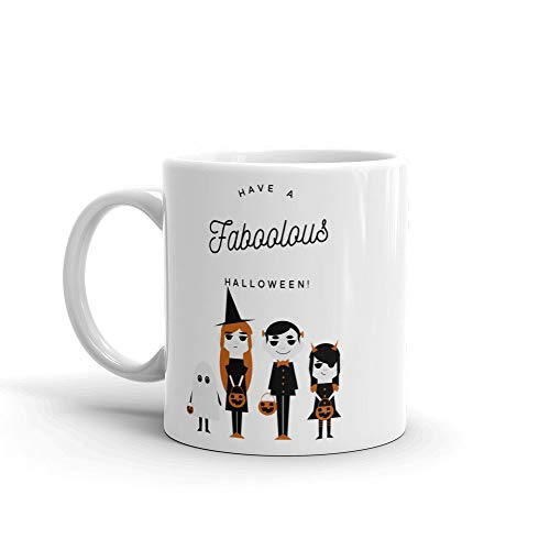 Have a Faboolous Halloween coffee mug cute Halloween typographic Mug; funny quote mug gift for family
