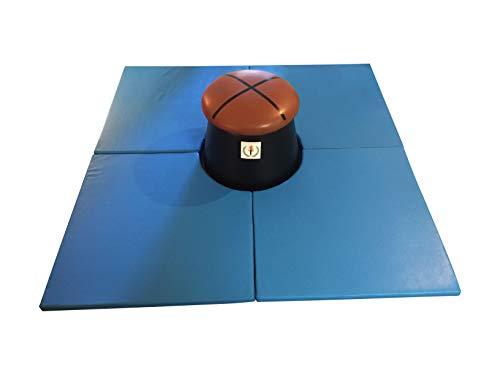 Olympia Pommel Trainers Mat Only - New Boys Gymnastics Mushroom Mat LLC - 6' x 6 ' Blue - Club and Home Use Mat ()