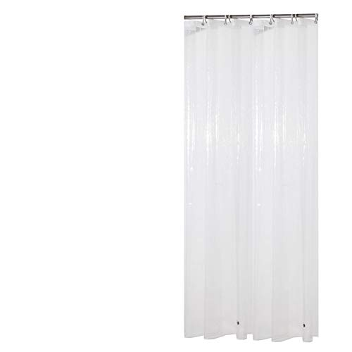 Sfoothome PEVA 8 Gauge Small Size Shower Curtain Liner,Waterproof,Odorless,Mildew Resistance, Eco Friendly 36inch by 72inch with 2 Bottom Magnets and Metal Grommets-Clear