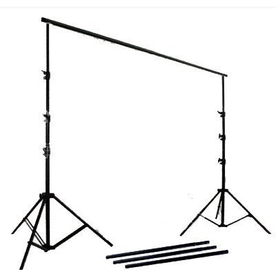 CowboyStudio Photography/Video Studio Lighting with Black, White, and Green 10 x 12ft Muslin Backdrops and Background Support System by CowboyStudio