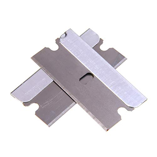 - BIN BON - Durable 100pcs/set Auto Film Special Glass Removal Blade Carbon Steel Razor Blade Single Edge For Window Fish Tank
