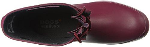 Paludi Womens Amanda 4-eye Pioggia Solidi Boot Burgundy