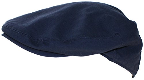 Ted and Jack Street Easy Traditional Solid Cotton Newsboy Cap (Medium, Dark (Irish Navy)
