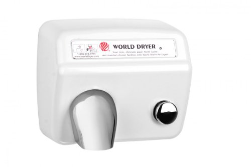 Model A Durable Hand Dryer Finish: Steel White, Voltage: 208-240 V by World Dryer