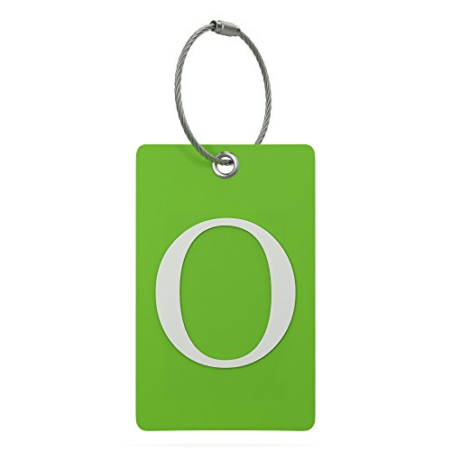 Luggage Tag Initial - Fully Bendable Tag w/ Stainless Steel Loop (Letter O) (Picture Luggage Tags)
