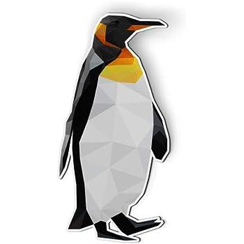 AK Wall Art Penguin Triangles Modern - Magnet - Car Fridge Locker - Select Size