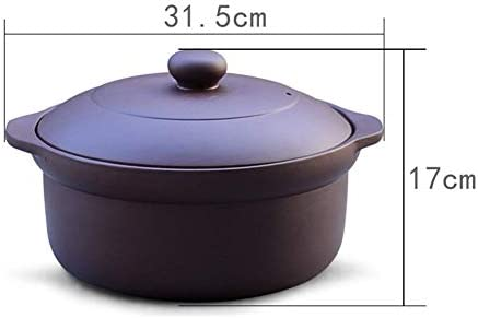 SGSG Casserole en Fonte Pot en Argile Cuiseur à Riz Casserole Domestique Pot à Soupe Flamme Ouverte Résistance aux Hautes températures Gamme de gaz Universel