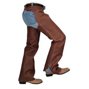 Weaver Adult Full Grain Work Chaps - Size:XLarge Color:Brown