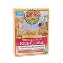 Earths Best Cereal Whlgrn Rice Org, 8 Oz, Pk- 1
