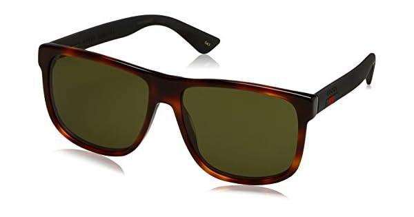 Amazon.com: Gucci gg0010s-006 – 58 Marrón Aviator anteojos ...