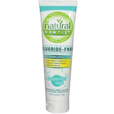 The Natural Dentist Healthy Teeth & Gums Fluoride-Free Antigingivitis Toothpaste Peppermint Sage 5 oz (Pack of 3)